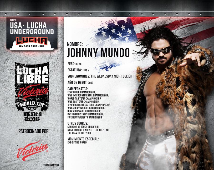 JOHNNY MUNDO - Lucha Libre Victoria World Cup 2016