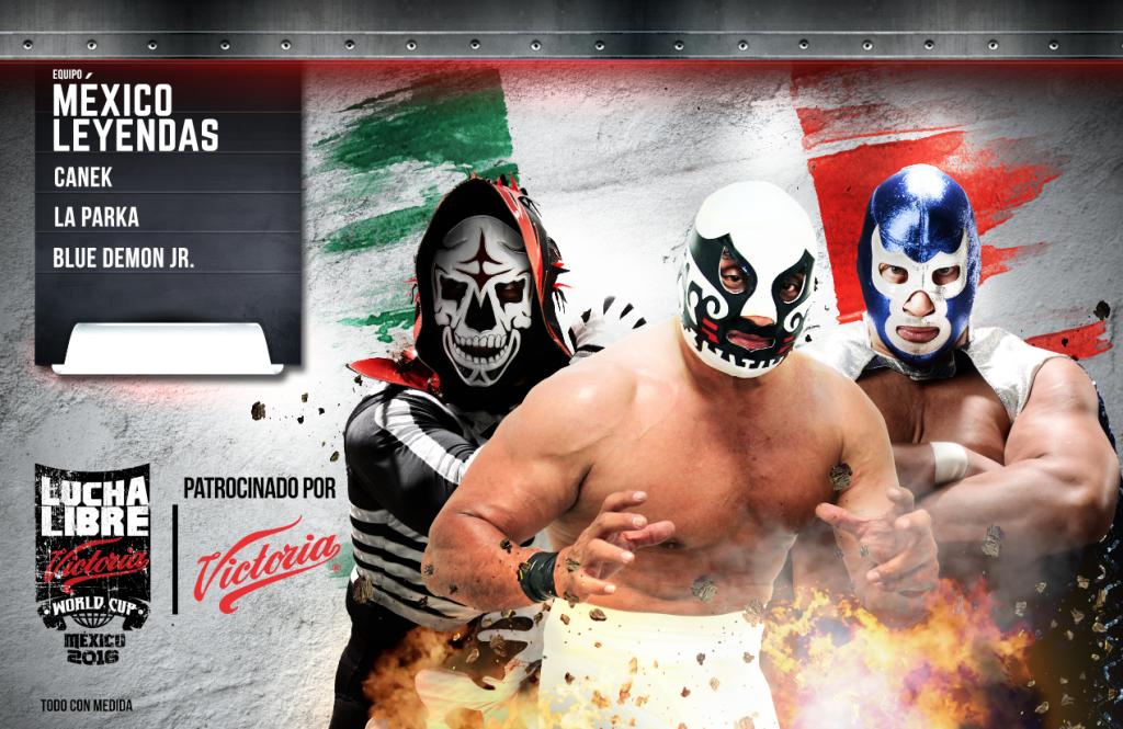 MEXICO LEYENDAS - Lucha Libre AAA Victoria World Cup 2016