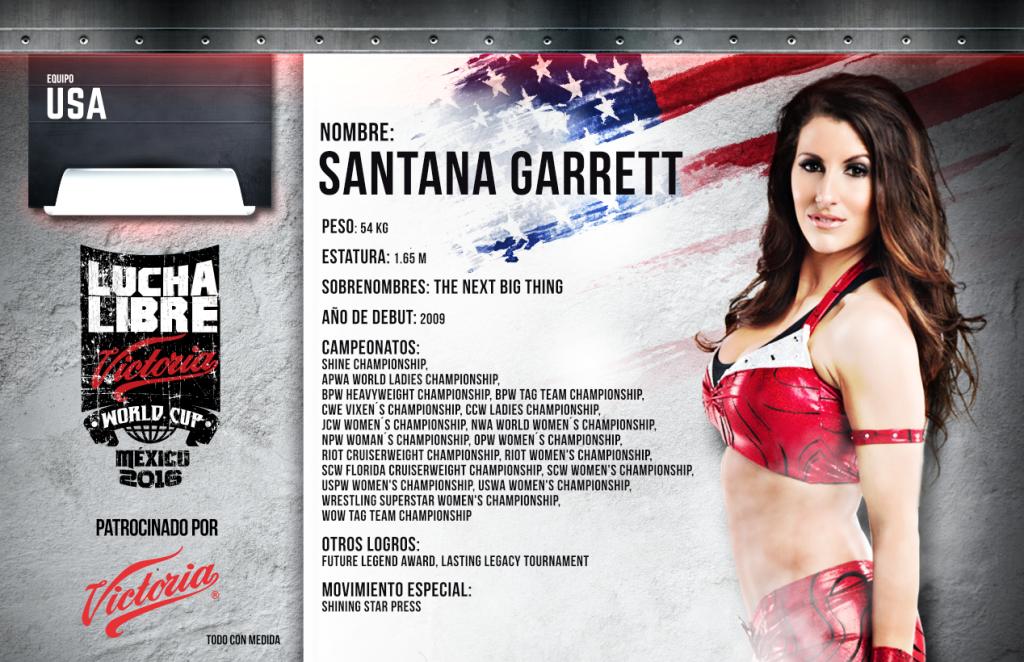 SANTANA GARRETT - Lucha Libre Victoria World Cup 2016