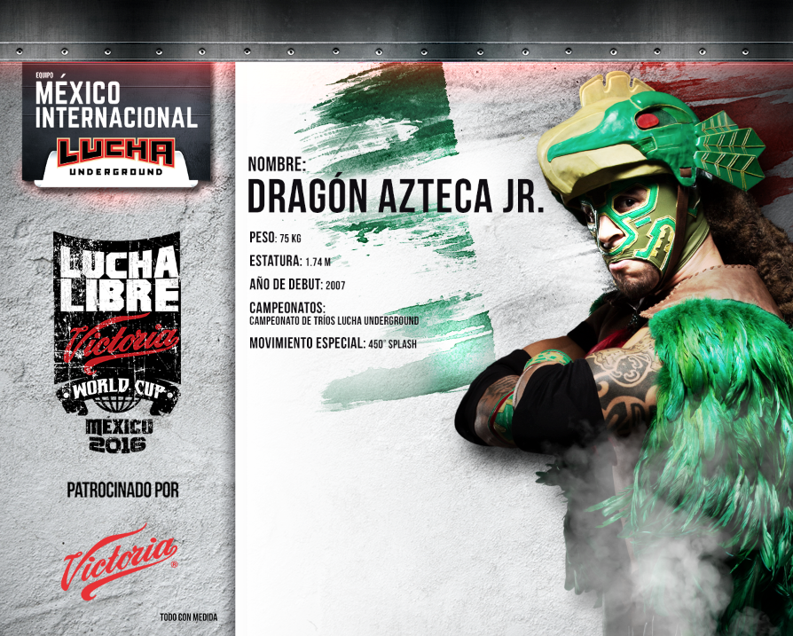 dragon azteca jr - Lucha Libre Victoria World Cup 2016