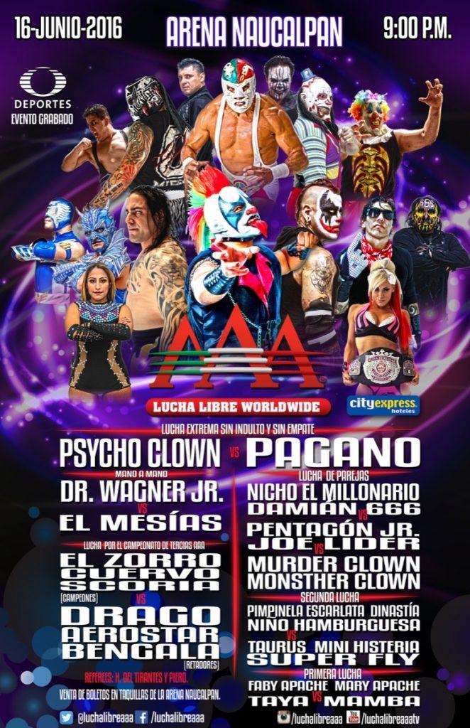 Cartel completo AAA en Naucalpan - Lucha Libre AAA Worldwide