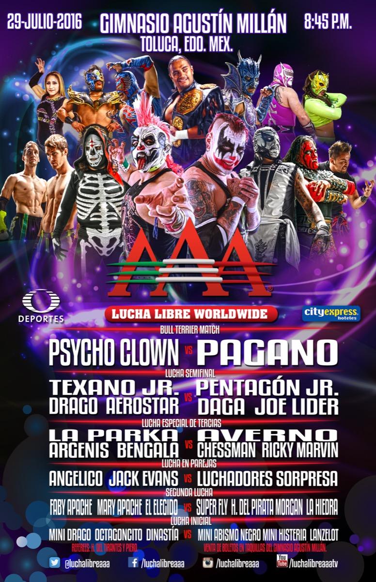 Cartel completo: #AAAenToluca - Julio 2016