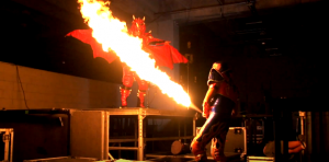 EXCLUSIVA: Drago y Aerostar en backstage de Héroes Inmortales X